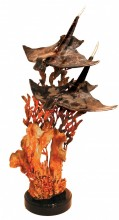 Formation Bronze Bat Ray Sculpture