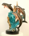 Rapture Copper Fill Dolphin Sculpture (Blue)