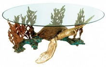 Shelly Bronze Turtle Table